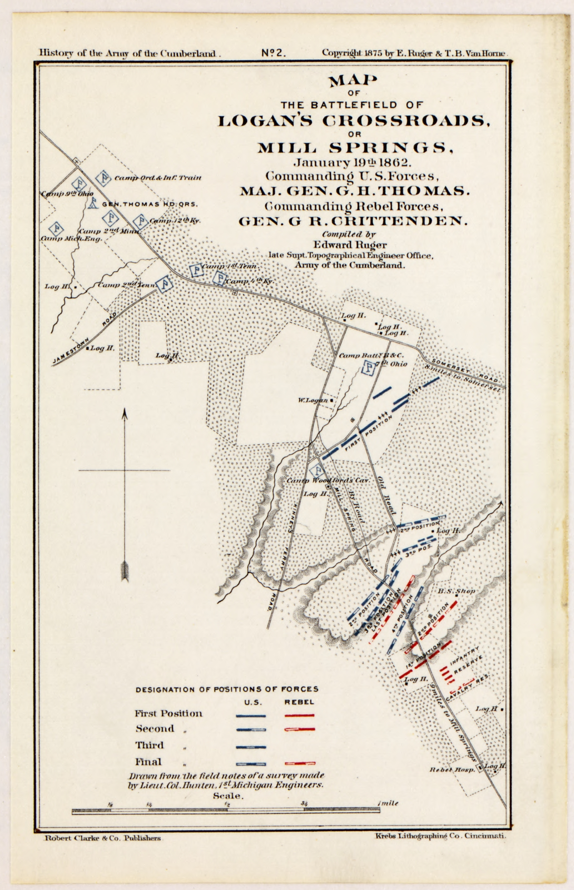 Book on CD 1875 Atlas Maps from the History of the Army of the Cumberland