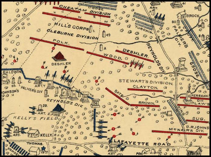 Chickamauga - Battle of chickamauga map